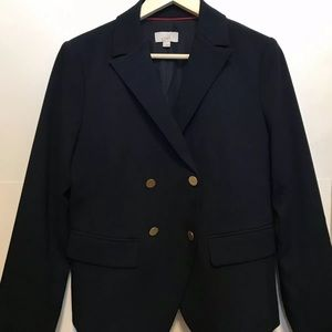 Loft Double Breasted Blazer Navy Blue Size 8